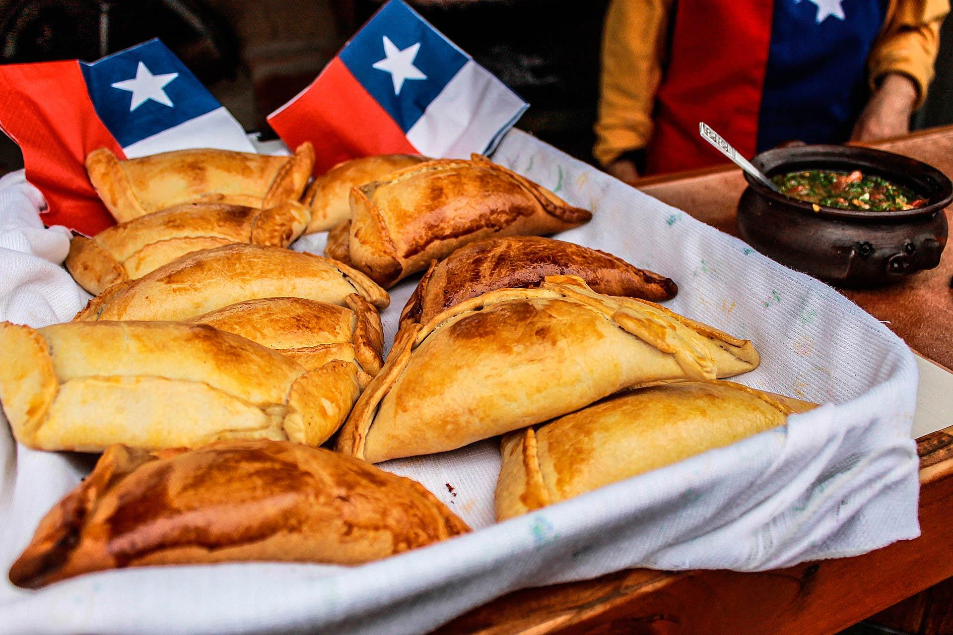Empanada típica Chilena