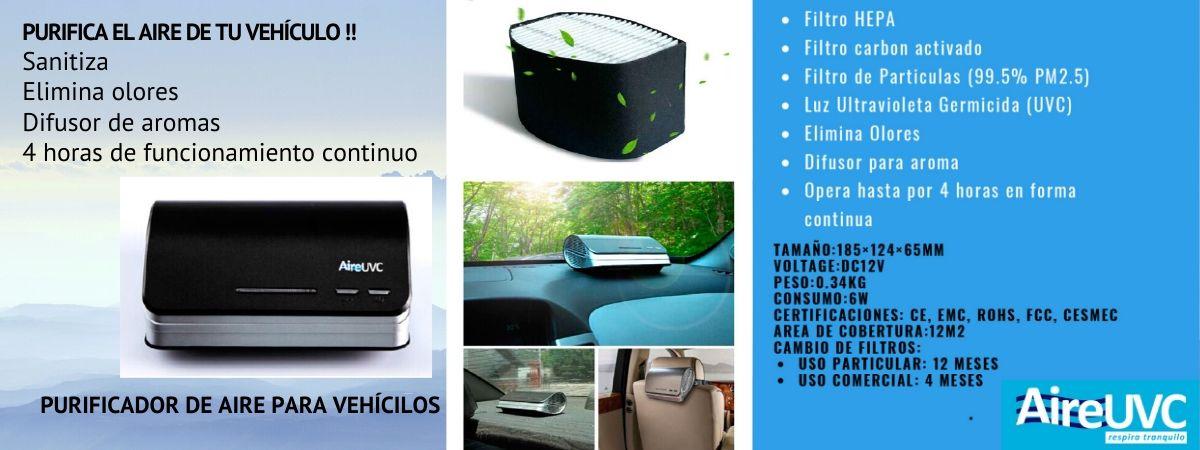 Luz ultravioleta germicida UV-C para sanitización de vehículos