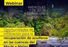 Webinar   Oportunidades de infiltración para la recuperación de acuíferos en las cuencas del Maipo y Maule